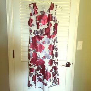 Rose floral mini dress will bottom ruffle